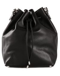 Proenza Schouler - Black Large Leather Bucket Bag - Lyst