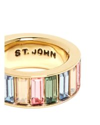 St. John - Metallic 'rondelle' Gemstone Ring - Lyst