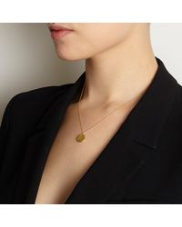 Myia Bonner - Metallic Gold P Facett Initial Necklace - Lyst