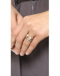 Vita Fede - Metallic Ultra Mini Freshwater Cultured Pearl Titan Ring - Lyst