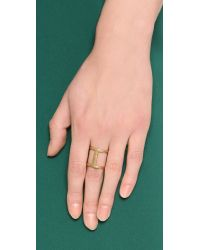 Madewell - Metallic Lilly Ring - Lyst