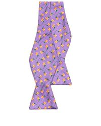 Brooks Brothers - Purple St Jude Floral Bow Tie for Men - Lyst