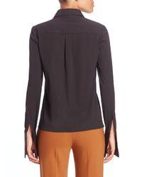 Michael Kors - Black Stretch-cotton Shirt - Lyst