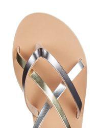 Ancient Greek Sandals - Semele Metallic-Leather Sandals - Lyst