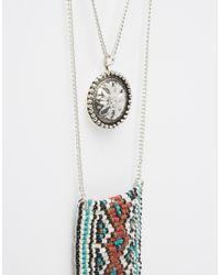 ASOS - Multicolor Badlands Choker Multirow Festival Necklace - Lyst