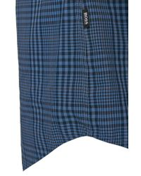 BOSS - Blue 'ronni'   Slim Fit, Cotton Button Down Shirt for Men - Lyst