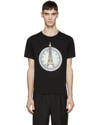 KENZO - Black Eiffel Tower T-shirt for Men - Lyst