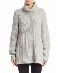 DKNY | Gray Oversized Turtleneck Sweater | Lyst