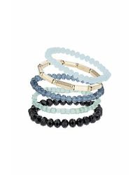 TOPSHOP | Green Facet Stretch Bracelet Pack | Lyst