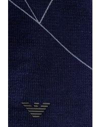 Emporio Armani - Blue Cotton Beanie for Men - Lyst