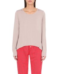 Calvin Klein | Natural Scoop-neck Jersey Pyjama Top | Lyst
