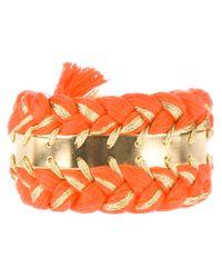 Aurelie Bidermann | Orange Double Copacabana Bracelet | Lyst