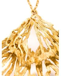 Alexander McQueen | Metallic Fishtail Pendant Necklace | Lyst
