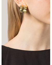Vaubel | Metallic Four Square Clip-on Earrings | Lyst