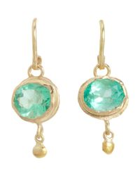 Judy Geib | Metallic Colombian Emerald & Gold Ball Drop Earrings | Lyst