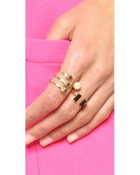 Joomi Lim   Metallic Concentric Glamour Ring - Gold/jet   Lyst