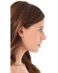 Petite Grand | Metallic Long Short Bead Earrings | Lyst