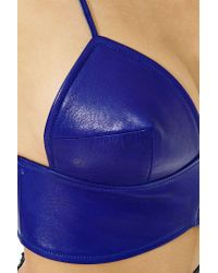 Nasty Gal - Blue Collection Infinite Leather Bustier - Lyst