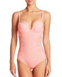 Spanx | Pink Haute Contour Deco Sweetheart Bodysuit | Lyst