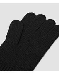 AllSaints - Black Halton Gloves for Men - Lyst