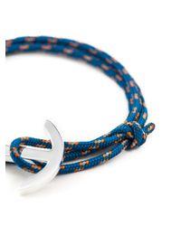 Miansai - Blue Anchor Detail Bracelet for Men - Lyst