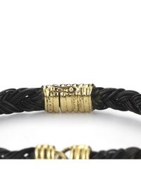 Cartier - Metallic Pre-owned 18k Yellow Gold and Elephant Hair Braided Bracelet - Lyst