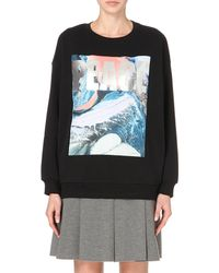 Izzue | Black Peace Cotton-jersey Sweatshirt | Lyst