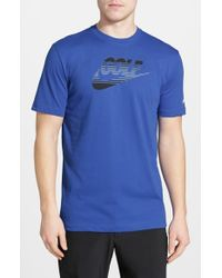 Nike | Blue 'Amplify' Dri-Fit T-Shirt for Men | Lyst
