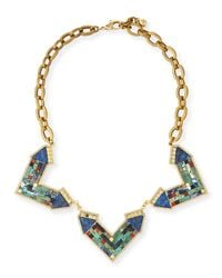 Lulu Frost | Green Petra Mosaic Statement Necklace for Men | Lyst