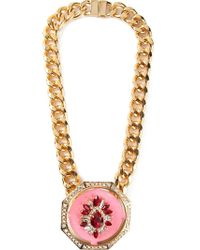 Shourouk - Pink 'gaius' Necklace - Lyst