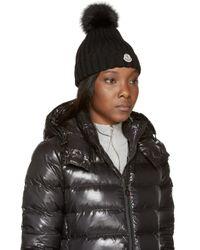 Moncler - Black Berretto Hat - Lyst