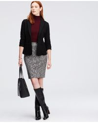 Ann Taylor | Black Wool Riding Jacket | Lyst