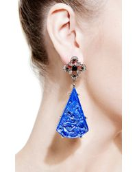 Bochic | Blue Lapis and Diamond Earrings | Lyst