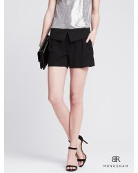 Banana Republic | Black Br Monogram Foldover Short | Lyst