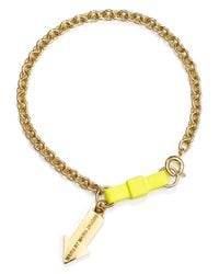 Marc By Marc Jacobs - Yellow Bracelet - Lyst