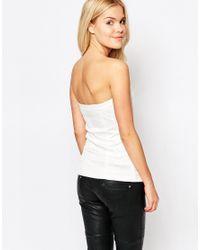 StyleStalker - White Style Stalker True Romance Bustier Top - Lyst