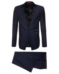HUGO - Purple Slim-fit Suit In New Wool: 'arly/ Hattin' for Men - Lyst