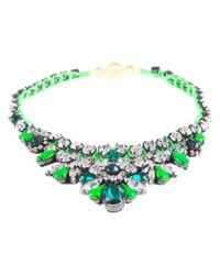 Shourouk | Green Mini 'theresa' Necklace | Lyst