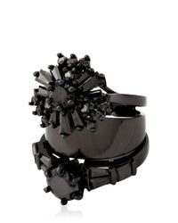 Iosselliani - Black All That Jewelry! Stacked Ring - Lyst