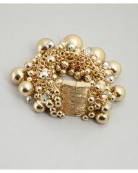 R.j. Graziano | Metallic Gold Bubble Bead Bracelet | Lyst