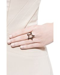 Rosa De La Cruz - Black Diamond Star Large Ring - Lyst