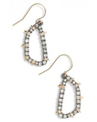 Alexis Bittar | Metallic 'elements' Drop Earrings - Gunmetal | Lyst