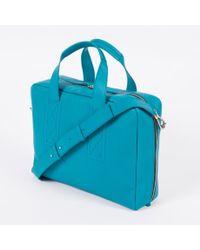 Paul Smith - Men's Sky Blue Grained Buffalo Leather Business Folio - Lyst
