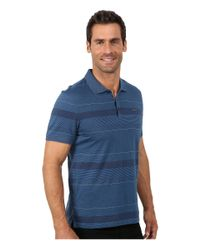 Calvin Klein   Blue Refined Texture Auto Stripe Polo for Men   Lyst