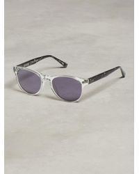 John Varvatos | Purple Retro Sunglass With Guitar Head Detail for Men | Lyst