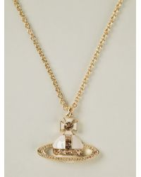 Vivienne Westwood - Metallic Cross Pendant Necklace - Lyst