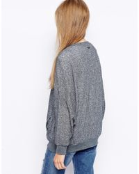 RVCA - Gray Stolen Time Jersey Top - Lyst