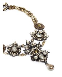 Erickson Beamon | Metallic 'golden Rule' Crystal Necklace | Lyst