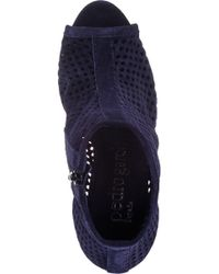 Pedro Garcia - Blue Sylvana Ankle Boot Gem Navy Suede - Lyst