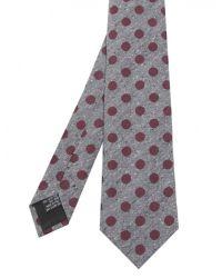 Jules B - Purple Silk Circle Print Tie for Men - Lyst